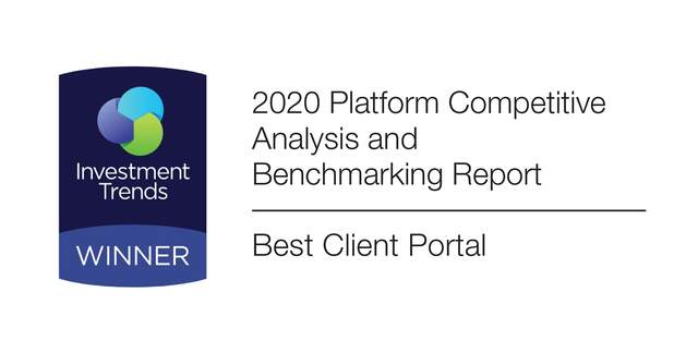 Investment Trends award for Best Client Portal